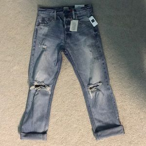Gap high rise straight jeans